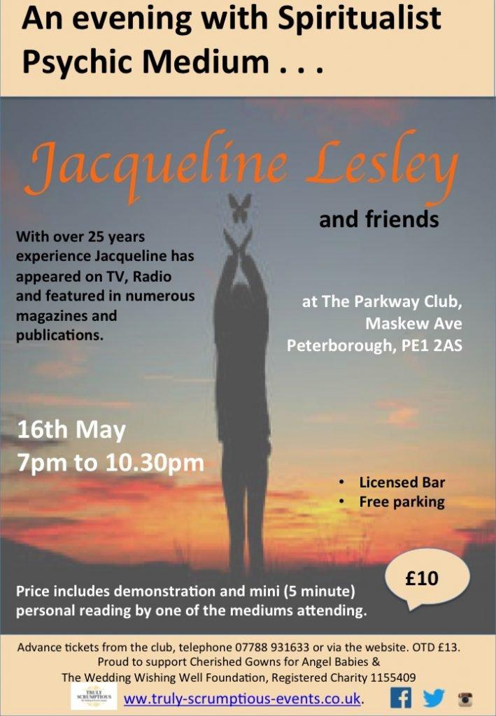 Evening with Spiritualist Psychic Medium Jacqueline Lesley & friends