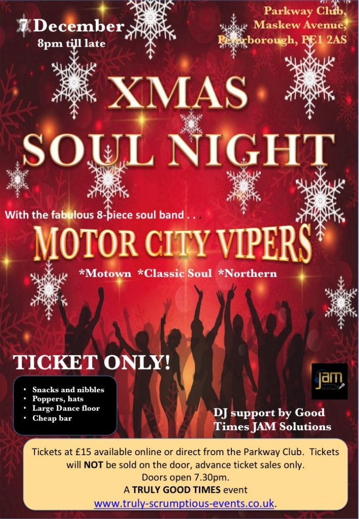 Xmas Soul Party Night with Motor City Vipers